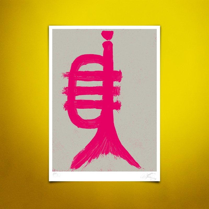 Fishtrumpet #01 Tirage Fine Art sur papier Hahnemühle   édition limitée