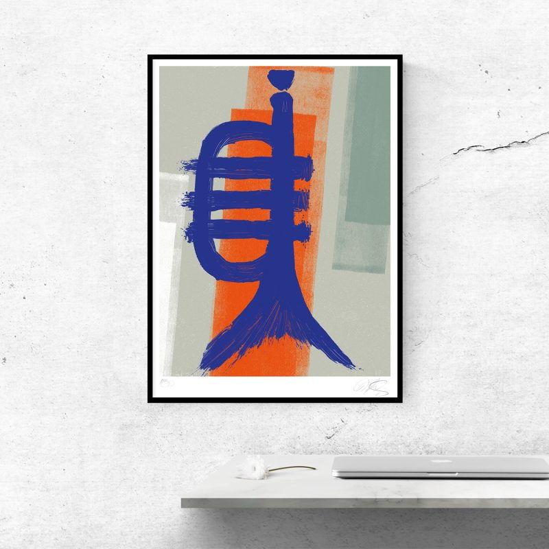 Fishtrumpet #02 Tirage sur papier Hahnemühle   édition limitée   Christophe andrusin