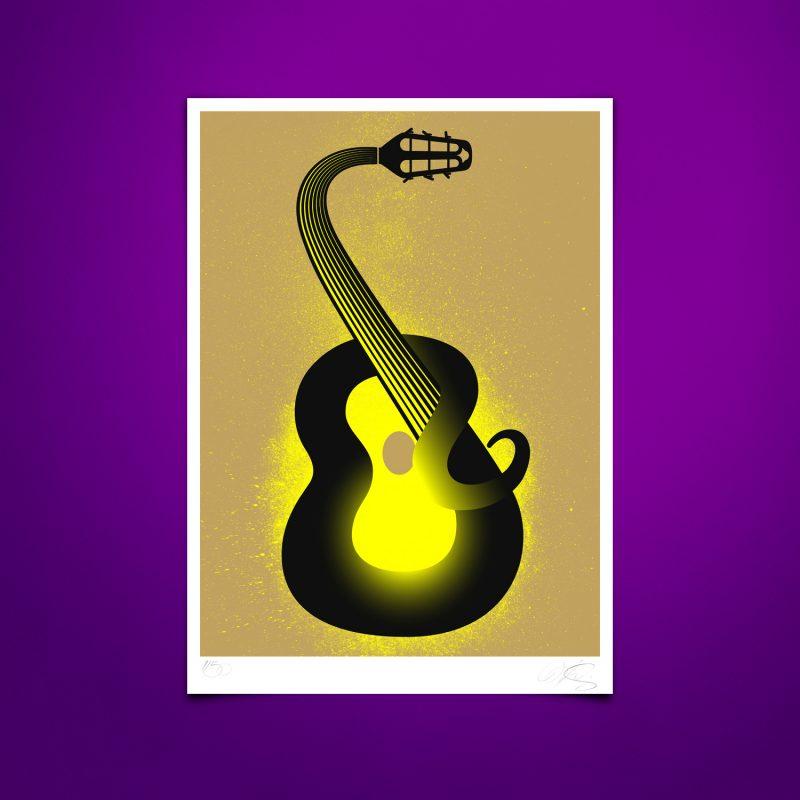 Guitar Charmer Tirage Fine Art sur papier Hahnemühle   édition limitée