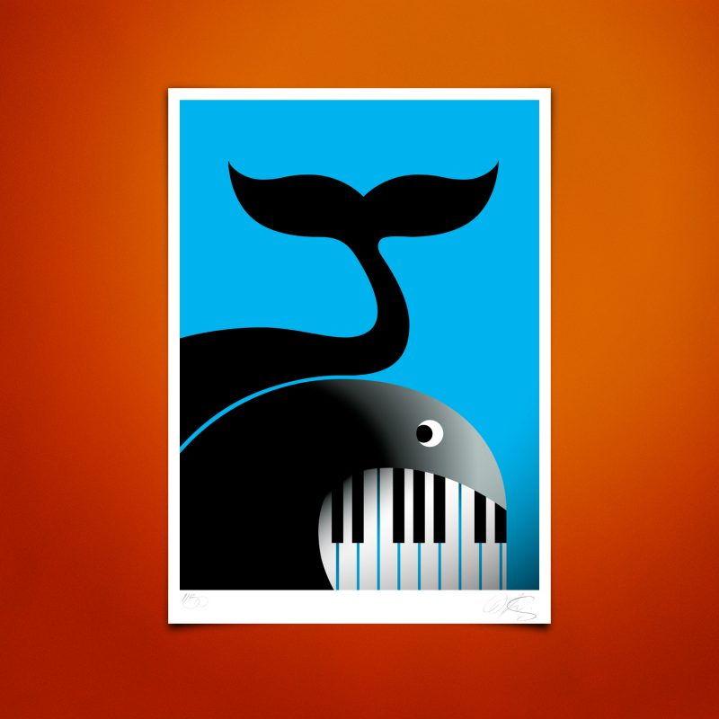 Swing WhaleTirage Fine Art sur papier Hahnemühle | édition limitée | Christophe Andrusin