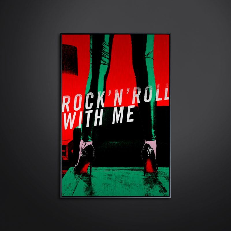 Rock N' Roll With Me #01 tirage en subligrahie sur plaque d'aluminium Chromaluxe | édition limitée | Christophe Andrusin