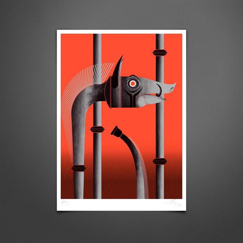 Carnyx Tirage Fine Art sur papier Hahnemühle   édition limitée   Christophe Andrusin