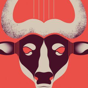 Bull Lyre Tirage Fine Art sur papier Hahnemühle | édition limitée | Christophe Andrusin