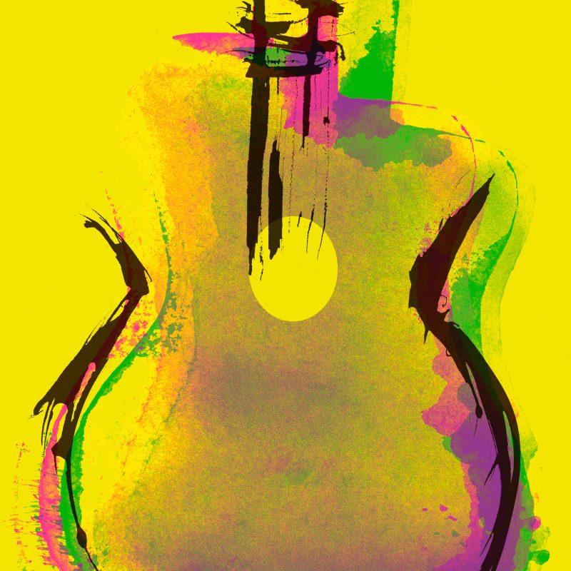 Django Pop' Tirage Fine Art sur papier Hahnemühle & subligrahie sur plaque aluminium Chromaluxe | édition limitée | Christophe Andrusin