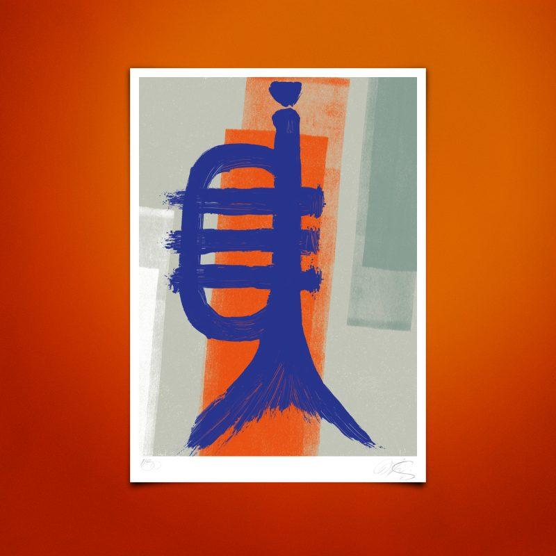 Fishtrumpet #02 Tirage sur papier Hahnemühle | édition limitée | Christophe andrusin