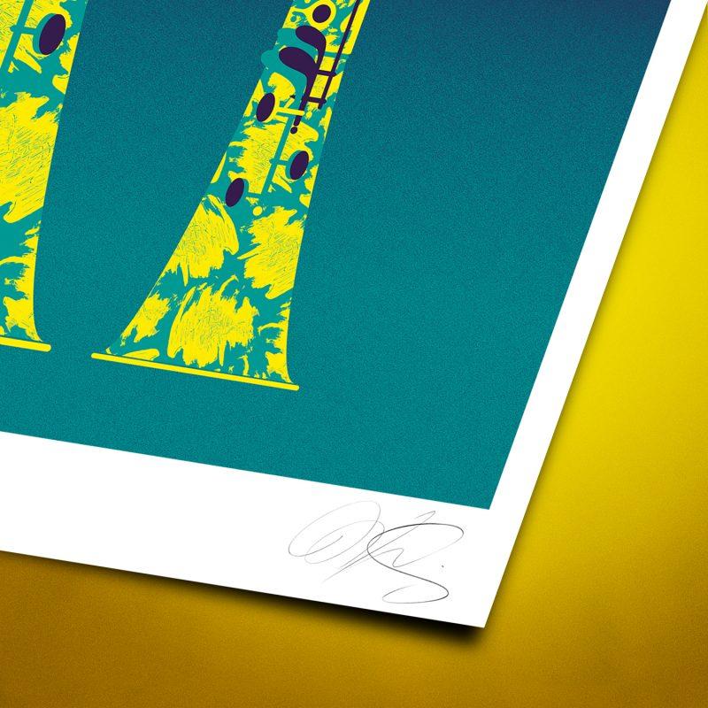 Giraffes Clarinet Tirage Fine Art sur papier Hahnemühle | édition limitée | Christophe Andrusin