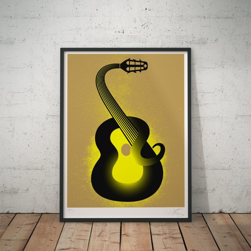 Guitar Charmer Tirage Fine Art sur papier Hahnemühle | édition limitée | Christophe Andrusin