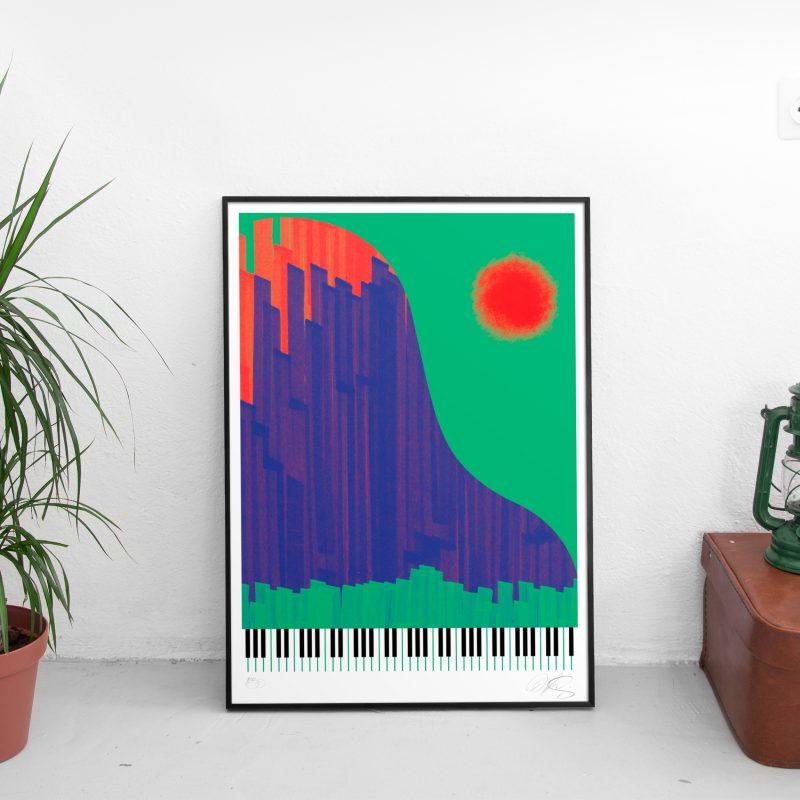 Piano-Yorker Tirage Fine Art sur papier Hahnemühle | édition limitée | Christophe Andrusin