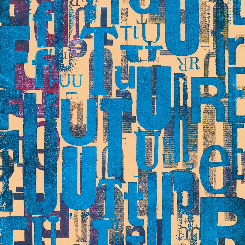 Future#02 en subligraphie sur plaque d'aluminium Chromaluxe | édition limitée