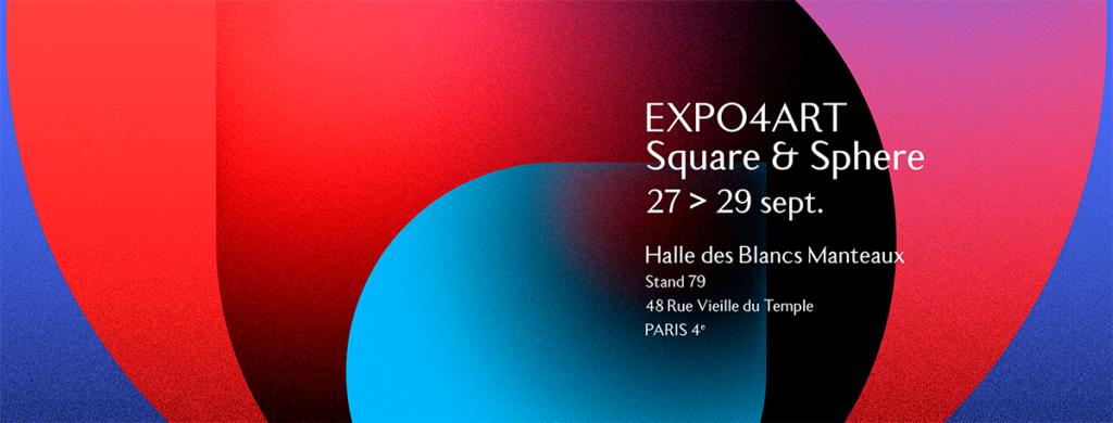 """Christophe Andrusin expose sa dernière série """"Square & Sphère"""" dans le cadre du salon Expo4art aux Blancs Manteaux Paris"""