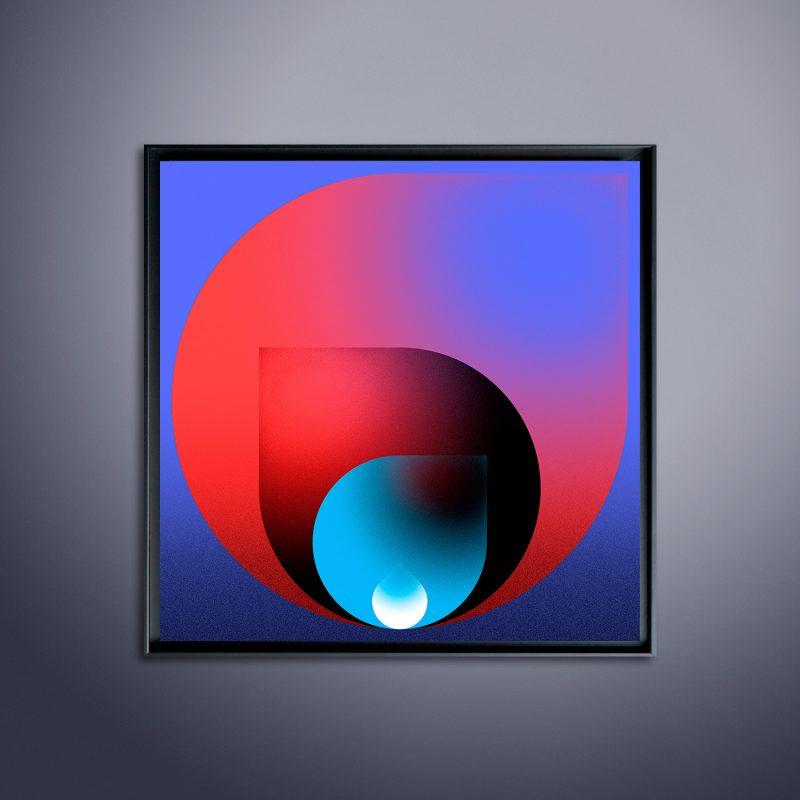 Sphere #01 tirage en subligraphie sur plaque aluminium Chromaluxe | édition limitée | Christophe Andrusin