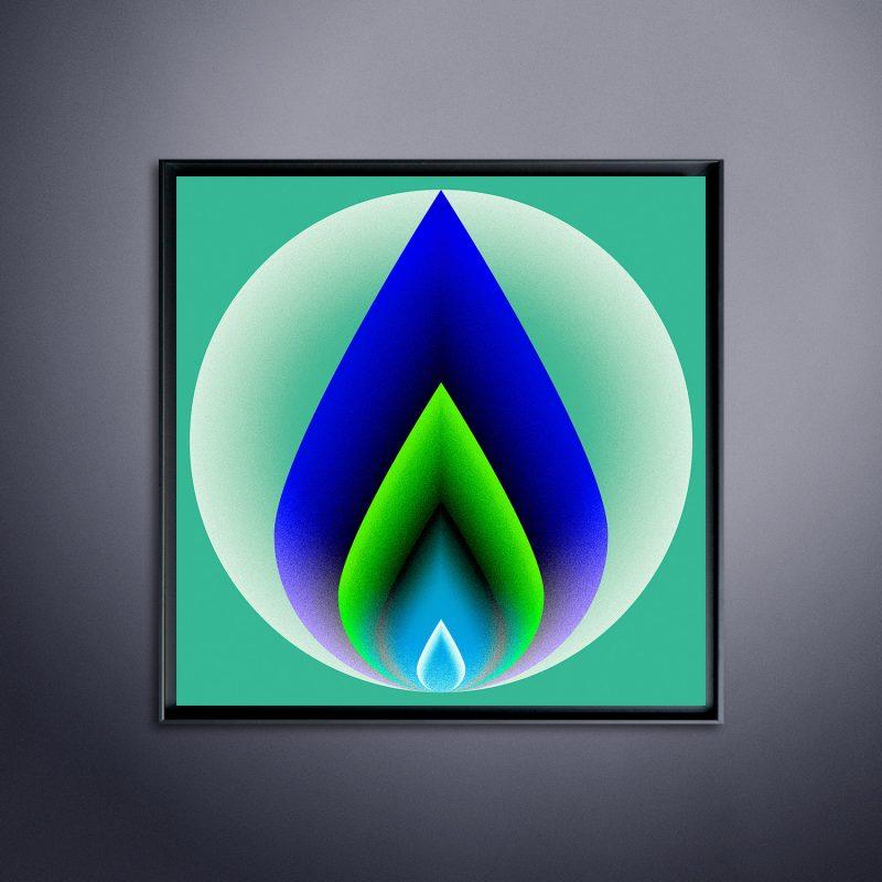 Sphere #02 tirage en subligraphie sur plaque aluminium Chromaluxe | édition limitée | Christophe Andrusin