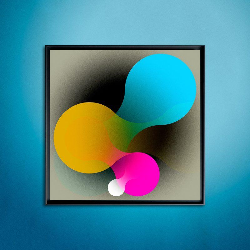 Sphere #03 tirage en subligraphie sur plaque aluminium Chromaluxe | édition limitée | Christophe Andrusin
